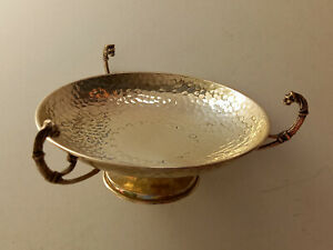 Elegant Footed Bowl, With Three Handles, Silver 925, Greek Style, 123gr