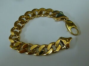 "Wonderful 9ct Gold 8"" Curb Bracelet - Fully hallmarked -"