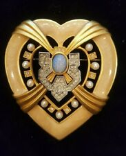 Signed Elizabeth Taylor By Avon Hearts of Hollywood Brooch Pin