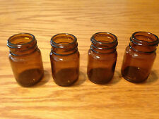 "Blooze Bottle Glass Guitar Slide - Short 2"" Amber - SA1 - 4 Pack - New"
