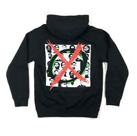 Offset Cross Out Mens Small Black Pullover Hoodie Sweatshirt Migos Graphic