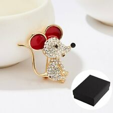 2020 Charm Lovely Mouse Rat Full Crystal Brooch Pin Women Wedding Jewelry Gifts