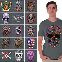 Day of the Dead shirt Halloween Dia De Los Muertos Sugar Skull t-shirt CHARCOAL