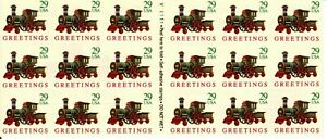 Holiday Toy Train Pane of Eighteen 29 Cent Postage Stamps Scott 2719a
