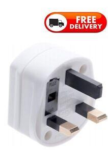 Premium Quality 1Amp Shaving Plug Electric Toothbrush Adapter UK 2To3 Pin Shaver