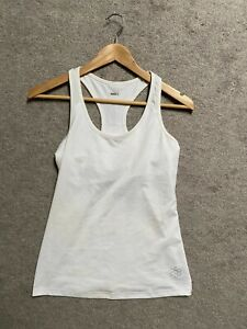 Activewear Top WHITE sz S Tank Top Racerback Athletic Running *flaw