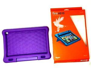 GENUINE Amazon Fire HD10 7th/9th Gen Kid-Proof Case - Purple OPEN BOX