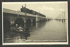 Venezia - Ponte della Ferrovia sulla laguna m. 3500 - Animata con Treno