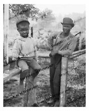 Vintage photo-African American man and boy-8x10 in.