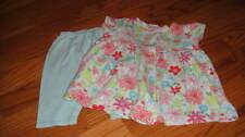BOUTIQUE ZUTANO BLUE FLORAL DRESS PANT SET 0-6