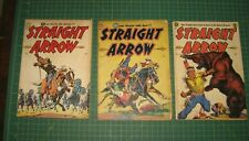 1950 COMIC BOOK LOT NO.1,2,3 ISSUES RADIO CHARACTER STRAIGHT ARROW ME MAGAZINE