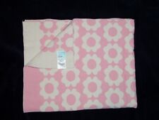 Orla Kiely for Target Baby Blanket Pink Cream Ivory Floral Flowers Cotton