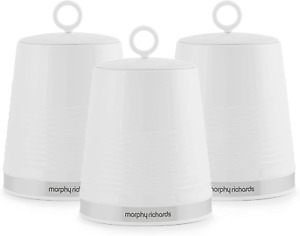 Morphy Richards 976005 Dune Kitchen Storage Canisters, Tea Coffee Sugar Set of 3