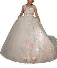 Butterfly Embellishment Flower Girl Dress Kids Pageant Ball Gowns