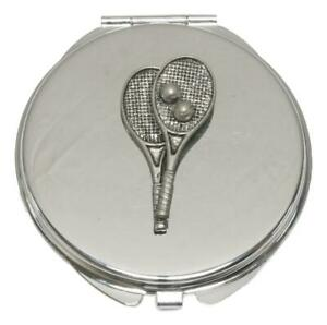 Tennis Racket Compact Mirror Handbag Gift With Free Engraving 370