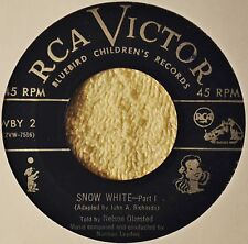 Snow White Bluebird Children's 45 50s Kids Story Record Narrated Nelson Olmsted