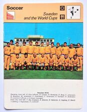 Sportscaster Football Card Editions Rencontre Sweden and the World Cups