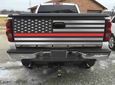 American Flag Red Fire Figther  Tailgate Wrap Vinyl Graphic Decal Sticker Wraps