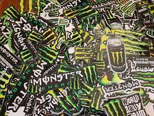 Lot Set of 10 Monster Energy Drink Stickers Racing Decals Motorcycle Motocross