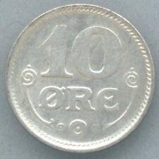 Denmark / Danmark KM-818.2 10 øre 1919 XF+