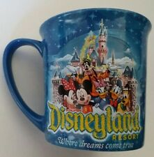 Disneyland Resort Mickey Mouse Disney Where dreams come true coffee cup Blue Mug