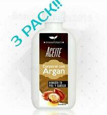 3 PACK! ACEITE DE ARGAN/ARGAN OIL Shanatural's cont. 60mL.Humecta piel & cabello