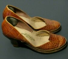 Vintage Women'S Shoes Shenanigans Genuine Alligator Size 6B