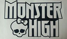 "Monster high  vinyl sticker 6"" wide plus custum sizes also available in white"