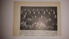 Michigan State Spartans University Lansing  1910 Football Team Picture RARE!