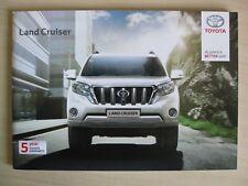 Toyota Land Cruiser UK Sales Brochure (January 2016)