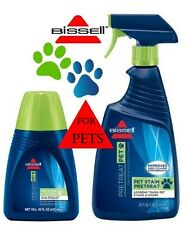 Bissell Combo Pack Pet Stain Odour Carpet Cleaner Plus Spray-On PreTreat Formula