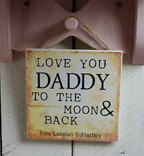 christmas plaques sign gift present dad quote love you daddy cute cream grandad