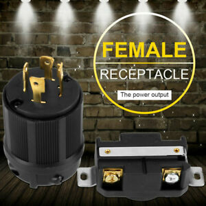 4 Pin AC Plug&Socket L14-30 30A 125V-250V Male&Female Receptacle Generator RV am