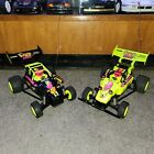2 Vintage Tyco Wild Thing Heads Up yellow & black tested & working turbo hopper