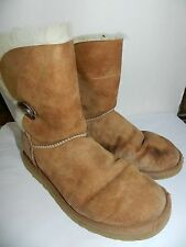 WOMENS tan ankle BOOTS = UGGS = SIZE 9 - ss17