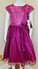 75446965 Jona Michelle Girls' Holiday/party Dress, Fuschia with Sequins age 8 ...