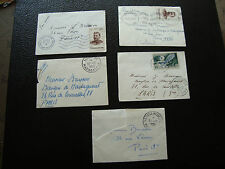 MADAGASCAR - 5 enveloppes 1955 (cy67)