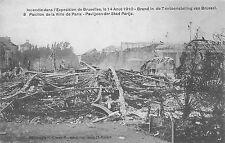 BC60754 Incendie dans l'Exposition de Bruxelles 1910  belgium