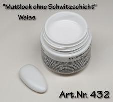 "5 ml UV Farbgel ""Mattlook"" Weiss, ohne Schwitzschicht, matt,  Nr. 432"