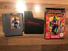 jeu nintendo NES shadow warriors FRA boite mais sans cale sans notice etat moyen
