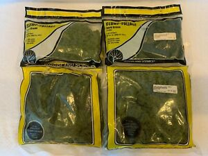 Woodland Scenics HO Scale Lot of 4 Clump-Foliage