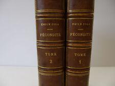 ZOLA (Emile). Les Quatres évangiles: Fécondité. 1899 Edition originale. 2 Vol.