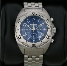 Mens Watch BEUCHAT Tikehau  Steel with Blue Dial Chronograph 40mm Divers Watch