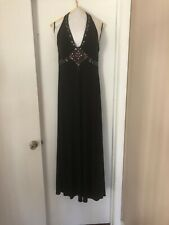 Sleeveless Black Prom Ball Gown Formal Evening, Long Maxi Dress Size 12
