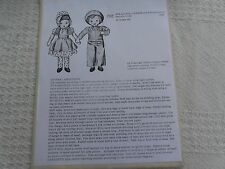 "Vtg 1944 Mccall 1158 Sue+ Sam Dolls 16"" tall with clothes Pattern farmer doll"