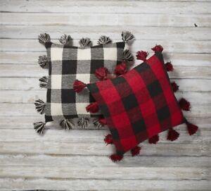 Mud Pie H1 Christmas Lodge 22x22'' Buffalo Check Pillow 41600557 Choose Color