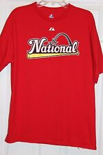 YADIER MOLINA T-SHIRT MAJESTIC NATIONAL LEAGUE ALL-STAR 2009 ADULT LARGE RED VGC