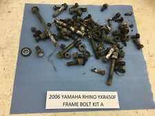 06-09 YAMAHA RHINO 450 YXR450F FRAME BOLTS MISCELLANEOUS NUTS PARTS STUFF A