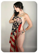 Sexy American Pickers Danielle Colby Cushman Flag Draped Photo Fridge Magnet