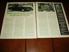 1974 CHEVROLET COSWORTH VEGA ***ORIGINAL ARTICLE***
